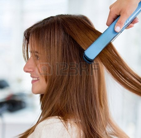 HAIR STRAIGHTENING  Hair straightening gives you the smooth and suave appearance that will ensure you are always the life of the party. Setting your hair will no longer be a pain after trying our hair smoothening or hair straightening optio - by Blossoms Salon, Hyderabad