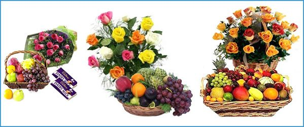 Easter Fruits & Flowers  Luscious fresh fruit hampers filled with premium seasonal fresh fruits and fresh and bright colored flowers can be delivered to you or for you anywhere in Lagos. At reasonable prices. Call for price. - by Funmi And Flowers Events, Lagos
