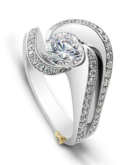 White gold ring - by Ratnam Jewellers, Udaipur