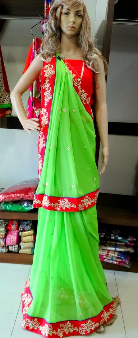 Designer Saree - by Gathari Boutique The Fashion Bound, Ahmedabad