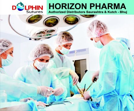 """About Us:-  """"Surgeons' Choice for Safe and Secure wound closure""""  Established in the year 2005, Dolphin Sutures is under the distributorship of Horizon pharma area Saurashtra and Kutch-Bhuj has become one of the most trusted brands for woun - by HORIZON PHARMA, Rajkot"""