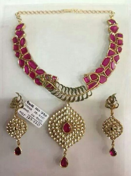 EXCLUSIVE NATURAL RUBY SET FOR DISCOUNT RATE..  - by Tirupati jewellers, Hyderabad