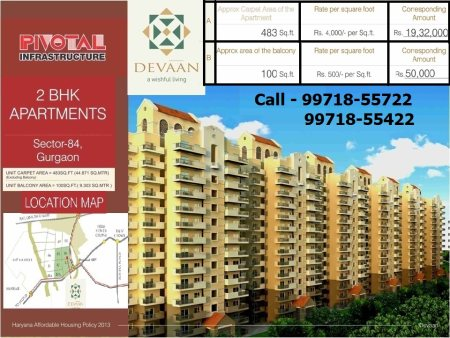 Affordable Housing Flat in Gurgaon.  2 BHK Flat in Gurgaon for Just Rs. 19.86 Lakh  Never miss Opportunity to own a flat in gurgaon - by Affordable Flats in Gurgaon  call 99718-55722, Gurgaon
