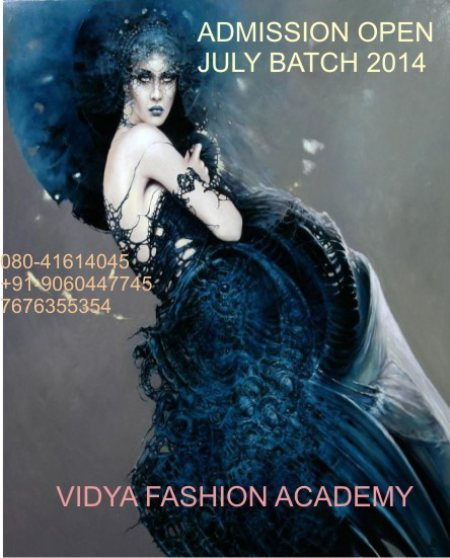 Admission open for JULY  '2014 batch(Afternoon)  for FASHION DESIGNING & STYLING....hurry...Limited Seats.... - by Vidya Fashion Academy, Bangalore