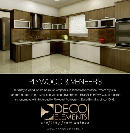 Decorative plywood or veneer is basically a thin slice of expensive grained wood Or reconstituted wood stuck to a lesser expensive plywood, MDF, or particle board piece to provide an Aesthetic desired finish that the specific wood type woul - by Deco Elements, Hyderabad