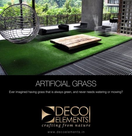 Artificial Grass and Plants available. We suggest the best artificial plants for your interiors.  - by Deco Elements, Hyderabad