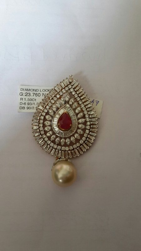 Exclusive Diamond Pendent with Changeable - by Sri Bhavani Jewels, Hyderabad