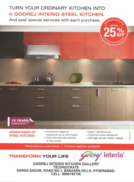 Godrej Interio Modular Kitchen - by Technocrats Interio, Hyderabad