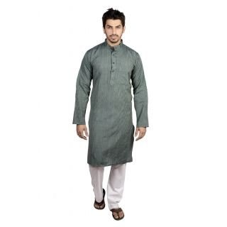 Flying Colors Men'S kurta dark gray kurta - by Rakesh creation, South Delhi