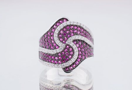 925 Sterling Silver Ring.Platted with Nickle Free Rhodium for Shine and Protection  - by Aashirwad Jewellers, Gurgaon