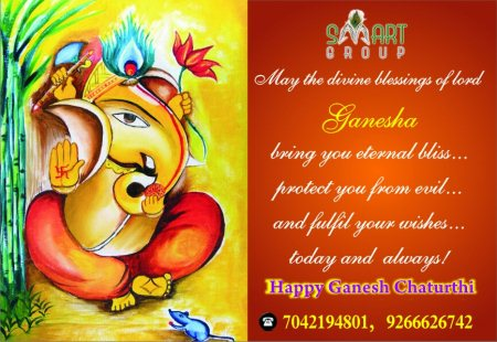 Happy Ganesha Chaturthi to all of you - by SMART GROUP | Builder | Developer | Residential Projects | Plots | Commercial Spaces, Delhi
