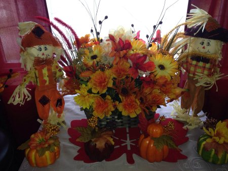 Fall Centerpiece 45.00 - by JMJ Custom Floral, Penobscot County