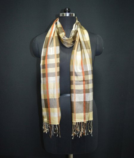 SILK STRIPE STOLE - by Devanshi Exports Private Limited, West Delhi
