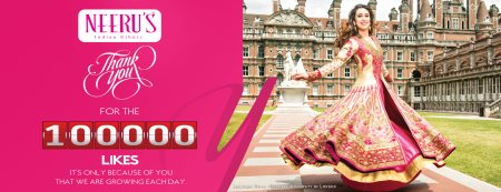 Neerus celebrates 1lakh Likes on the facebook ! - by Neerus Elite - Banjara Hills (www.neerus.com), Hyderabad