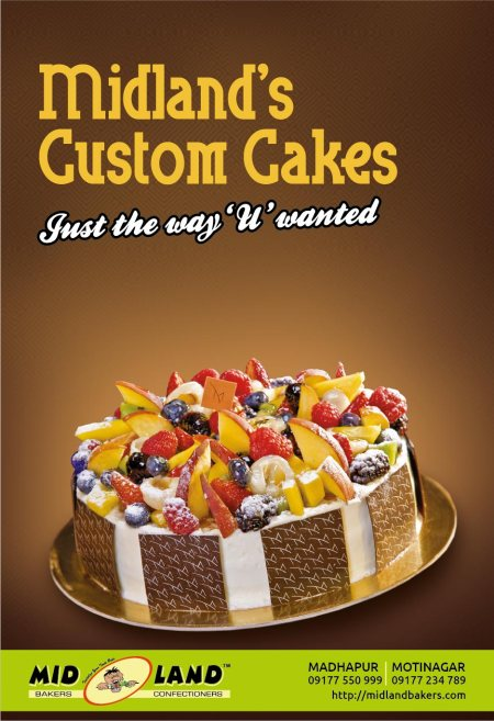 Customized Cakes for that extra piece of love..call us now to book your cake on +919177550999. - by Mid Land Bakers & Confectioners, Hyderabad
