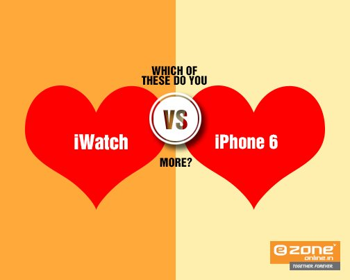 Good morning folks! The rumour mills have it that iWatchwill launch alongside the iPhone 6 on Monday. Meanwhile, tell us which one are you looking forward to by posting in the Comments section below. - by E ZONE-HOWRAH-AVANI RIVERSIDE MALL, Howrah