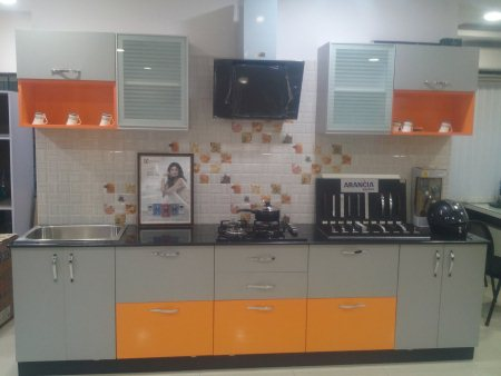 Straight Line Kitchen Designs Available in Different Styles and Models - by Jyothi Kitchens, Vishakhapatnam