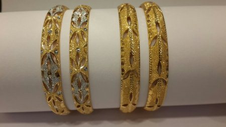 New arrival Latest light weight Exclusive bangles for daily wear. Optional Rodium or without Rodium. Pair Wt:- 19 gms approx. Looking forward for your orders for this festive season.