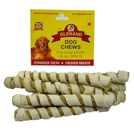 Glenand brand, Compressed pieces of rawhide, rolled  in a sheet  of hygienically  processed raw hide.  - by Glenand Pet Store - Koramangala, Bangalore
