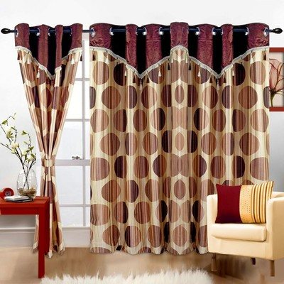 Cortina Print Drape Door Curtain - by Mahalakshmi Handloom, New Delhi