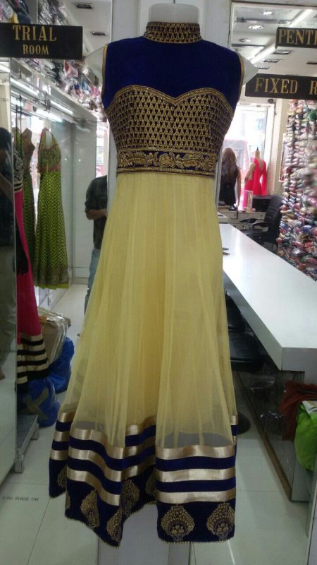 Ready made anarkali dress Size-l 38 - by Aayna Fashion, Ahmedabad