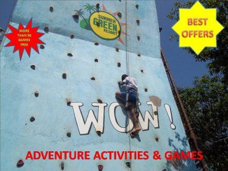 Best Adventure Activities and Games in Weekends Hyderabad Resorts.  - by Summer Green Resorts, Hyderabad