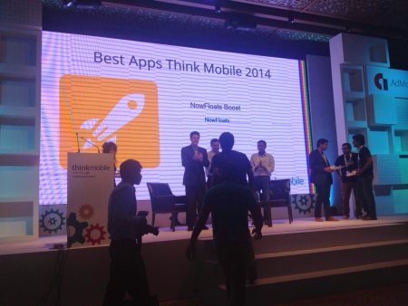 Boosted at Google's #ThinkMobile 2014!  Google's #ThinkMobile 2014 brought together mobile experts from across the globe to deliver insights on app ecosystem, monetization, user acquisition, mobile technology and more. Developers could meet - by NowFloats - Delhi, South West Delhi