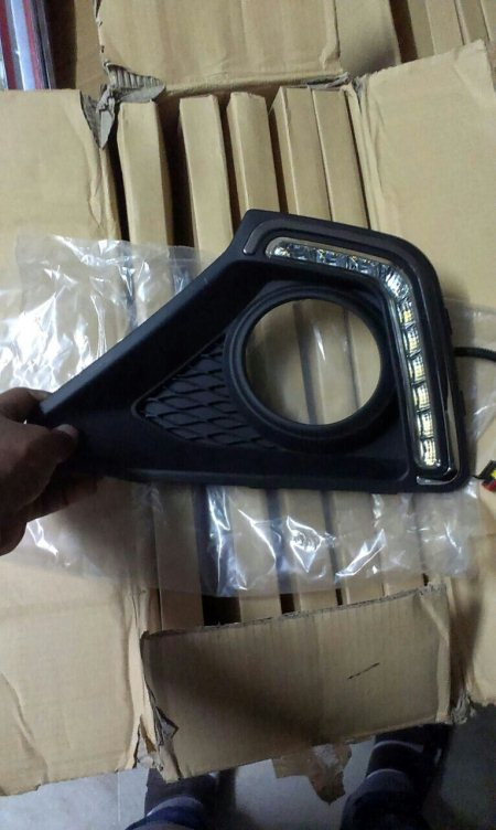 Fog lamp cover with DRL available for honda city idtec, xcent and i10 grand only at motominds. ...