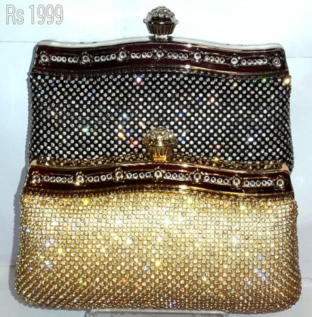 Beautiful gold and black clutches  - by TKD JEWELLERS, Hyderabad