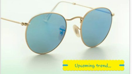 Rayban round sunglass..  Be different in crowd  New collection of rayban sunglass - by Palak Optics, Ahmedabad