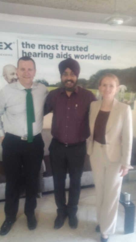 Widex Denmark Finance Head and GM Marketing Asia Pacific @ our office. - by National Hearing Care Centre, Mewat