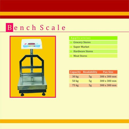 Electronic bench weighing scale - by Venkateshwara Weighing Scales , hyderabad