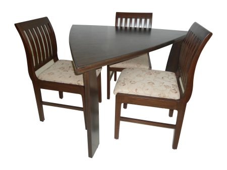 TRIANGLE DINING SET WITH 3 SEATERS. - by Online furniture shop.In, Tumkur