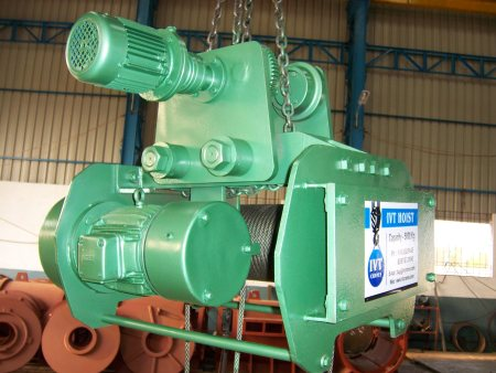 Innovative Crane N Hoist Manufacture Electric Wire Rope Hoists  According to Indian Standards.  Ranging from 1 Ton to 20 Tons Capacity.