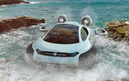 Volkswagen Aqua - Hovercraft concept The Volkswagen Aqua is a futuristic hovercraft concept created by Yuhan Zhang, a 21 year old designer from China. Yuhan just graduated with honors from Xihua University with a degree in Industrial Design - by VISHNU, Salem