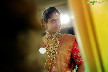 Wedding Candid Photography : The reflection of marriage in those eyes and the beautiful smile... - by Leaf The Studio, Hyderabad