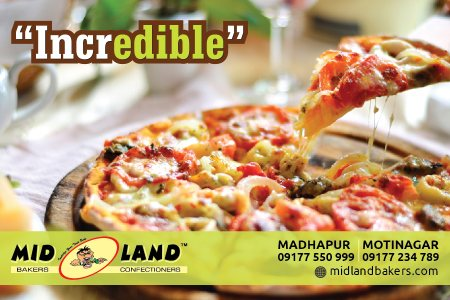 Pizza to pamper your taste buds....come pick one now !!! - by Mid Land Bakers & Confectioners, Hyderabad