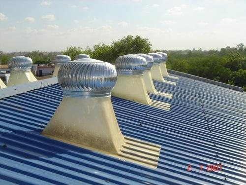 Kavya Turbo Ventilators manufacturers are designed in a manner to fetch the normal as well as extreme weather conditions pertaining at any industrial or commercial shed so as to remove heat & dust to the extent possible, also to maximum fre - by Kavya Roofing Industries, Visakhapatnam