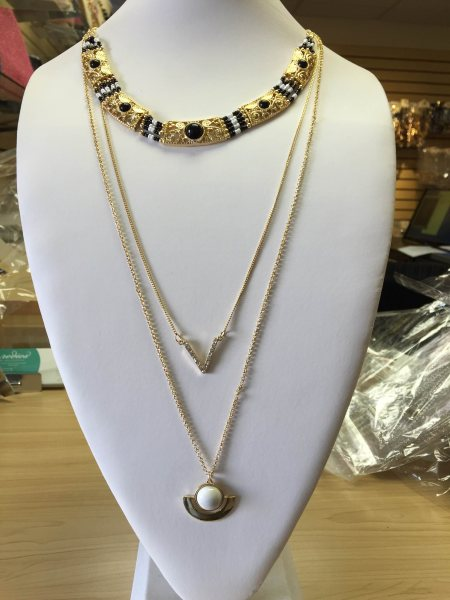 Black/White 3 Layers Long Necklace $18 - by Kamilah&amayasBowtique, Miami