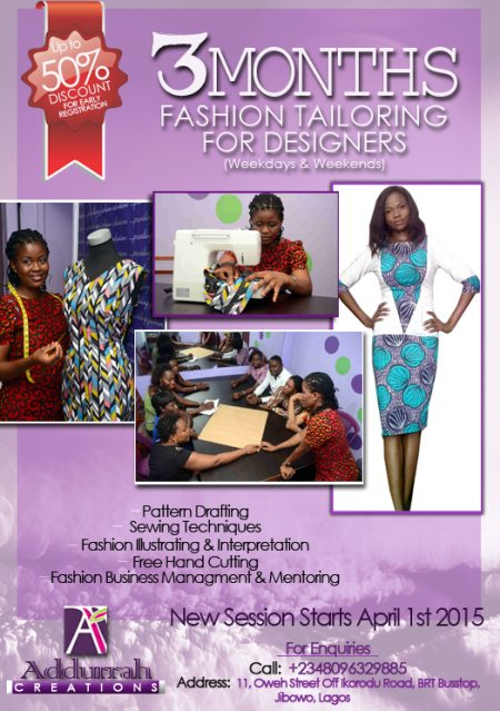 Our 3 Months Fashion Tailoring For Designers... Don't Miss It! - by Addurrah Creations, Shomolu