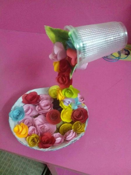 Falling flower pot - by Art N Craft, vellore