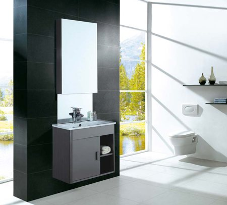 An amazing vanity set with above mirror to embellish your bathroom more elegantly. - by Dooa Sanitaryware, Hyderabad