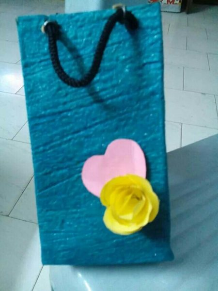 Handmade paper bag. Go green product - by Art N Craft, vellore