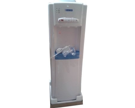 Blue Star Water dispenser of 3 taps hot, normal and cold options, Model:BWD3FMEA & BWD3FMREA, bottled water dispenser. Freeze air marketing is authorized distributors of sales and service.