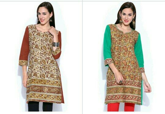 Kalamkari kurtis  - by Manthancreations, chennau