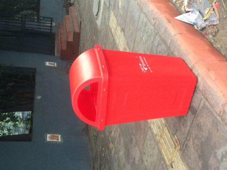 Outdoor waste bins suppliers in noida, green revolution produce world class garbage cans for outer area which is made of best quality plastic and raw materials - by K C GREEN REVOLUTION PVT LTD, Delhi