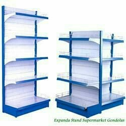 Manufacturer and Supplier of Supermarket Rack, Wall Racks, Wall Mounted Racks, Display Racks, Island Racks, End Racks, Heavy Duty Racks, Supermarket Shelving System, Pegboard Racks offered by Expanda Stand Supermarket racks are characterize - by Expanda Stand Private Limited - Revolution On Displays, chennai