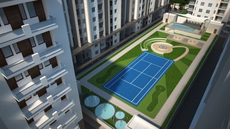Neemrana County Project Features  Neemrana County has     Over 17000 sq feet Podium Garden    Well-planned Open Green Spaces where children can play to their hearts content    An modern community centre for social interactions for young  - by Neemrana County - Affordable Luxury Suites, Gurgaon