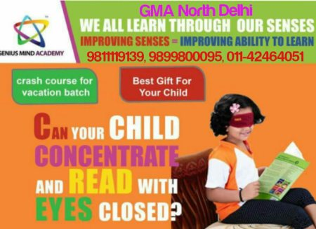 We activate the senses of a child to this extent that he can read write & do anything blindfolded* - by Genius Mind Academy North Delhi, 2656,1st Floor,Hudson Lane, Kingsway Camp, Delhi-09