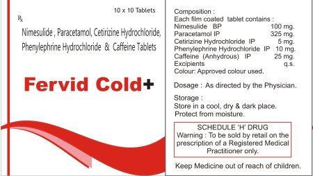 Best Medicine for Cold and Fever. Every home should kept it in his First Aid because it is used commonly very month. 10Strips of 10Tab at Rs.100 having MRP of Rs. 450.00. Substitute brand like WINCOLD, NOCOLD, CHESTONCOLD etc. - by Zevious Laboratories, Solan